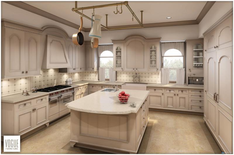 Architectural rendering of kitchen 3D home design model