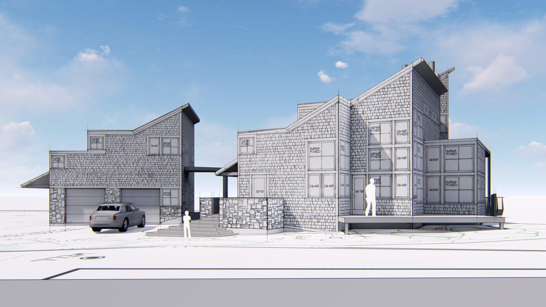 Architectural rendering of home 3D design model