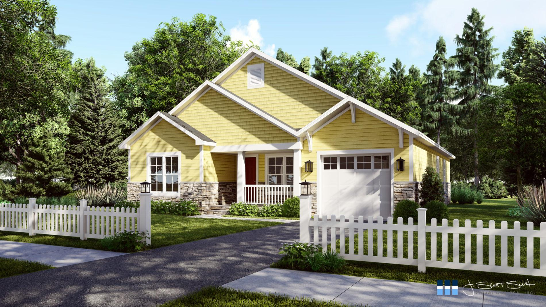 Architectural rendering of home 3D design model