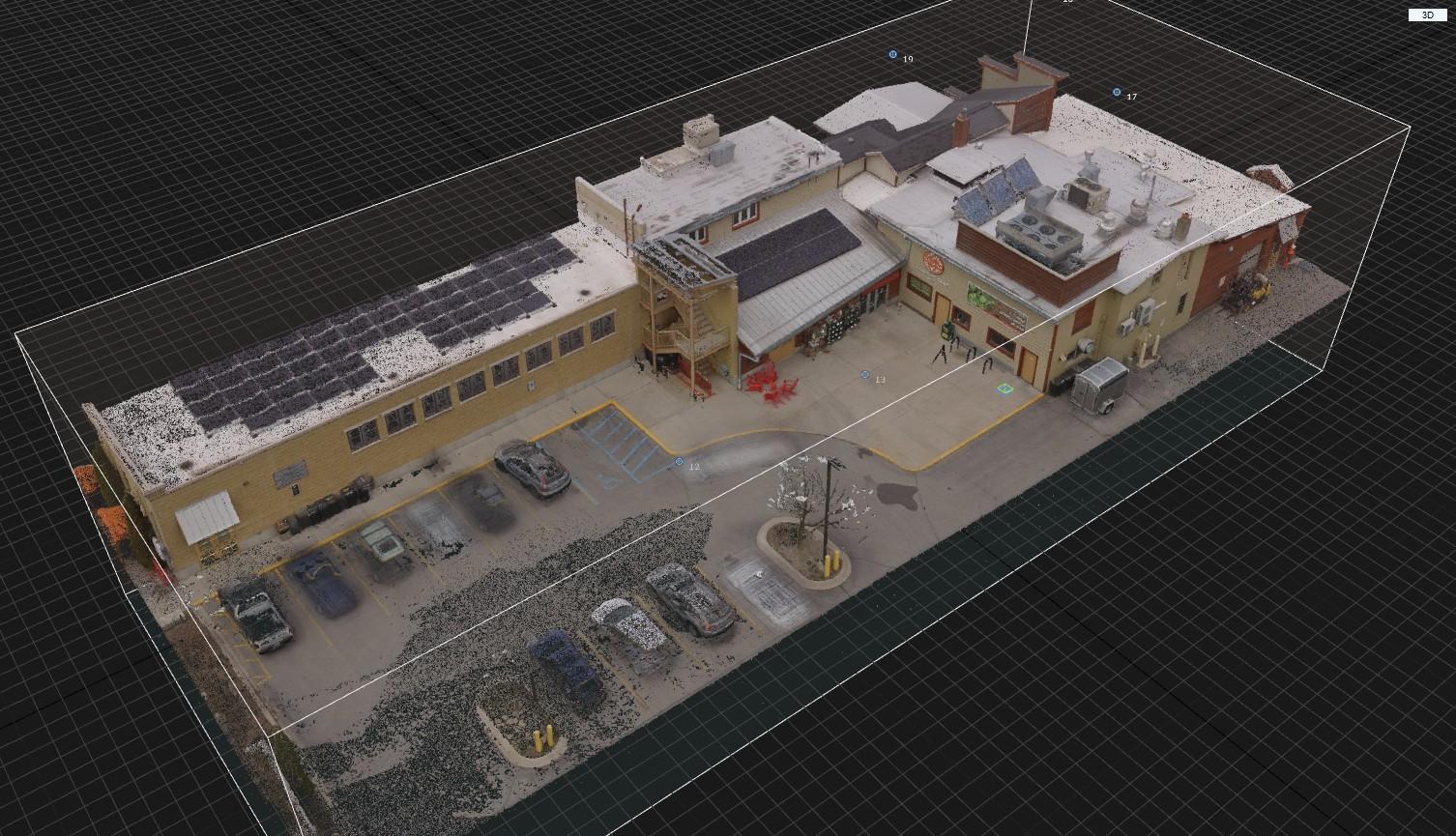 3D scan commercial building