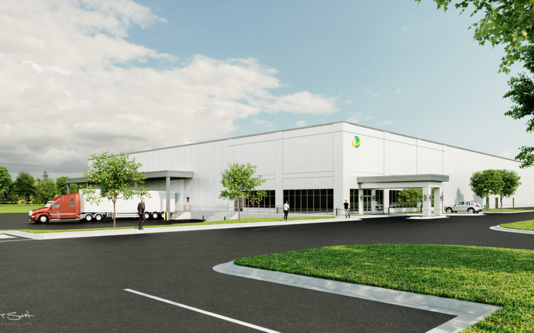 Architectural Renderings: Steel Manufacturing Building