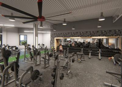 architectural 3d rendering gym weight room