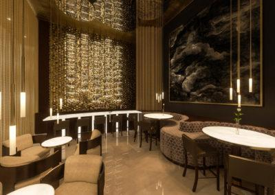 Architectural 3D rendering hotel bar