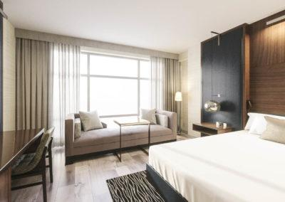 Architectural 3D rendering hotel guest room