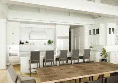 architectural 3d rendering residential interior white
