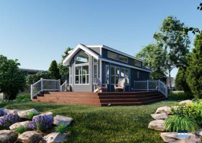 architectural 3d rendering rv resort club house