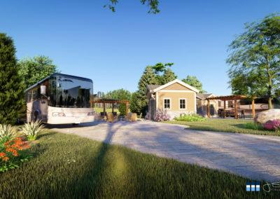 architectural 3d rendering rv resort rv site