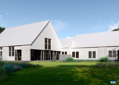 architectural 3d rendering residential exterior modern farm