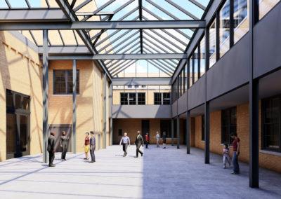 architectural 3d rendering open atrium