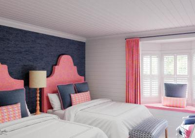 architectural 3D rendering bed and breakfast bedroom