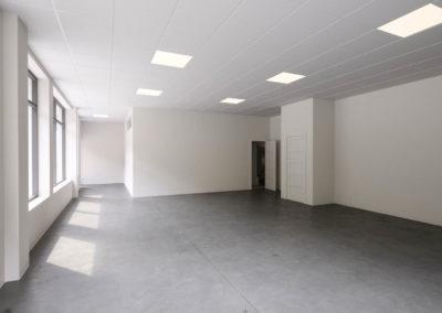 Architectural 3d rendering live work space white empty