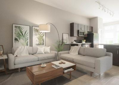 Architectural 3d rendering living room