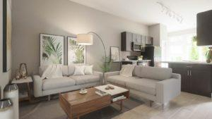 architectural 3D rendering house interior modern living room