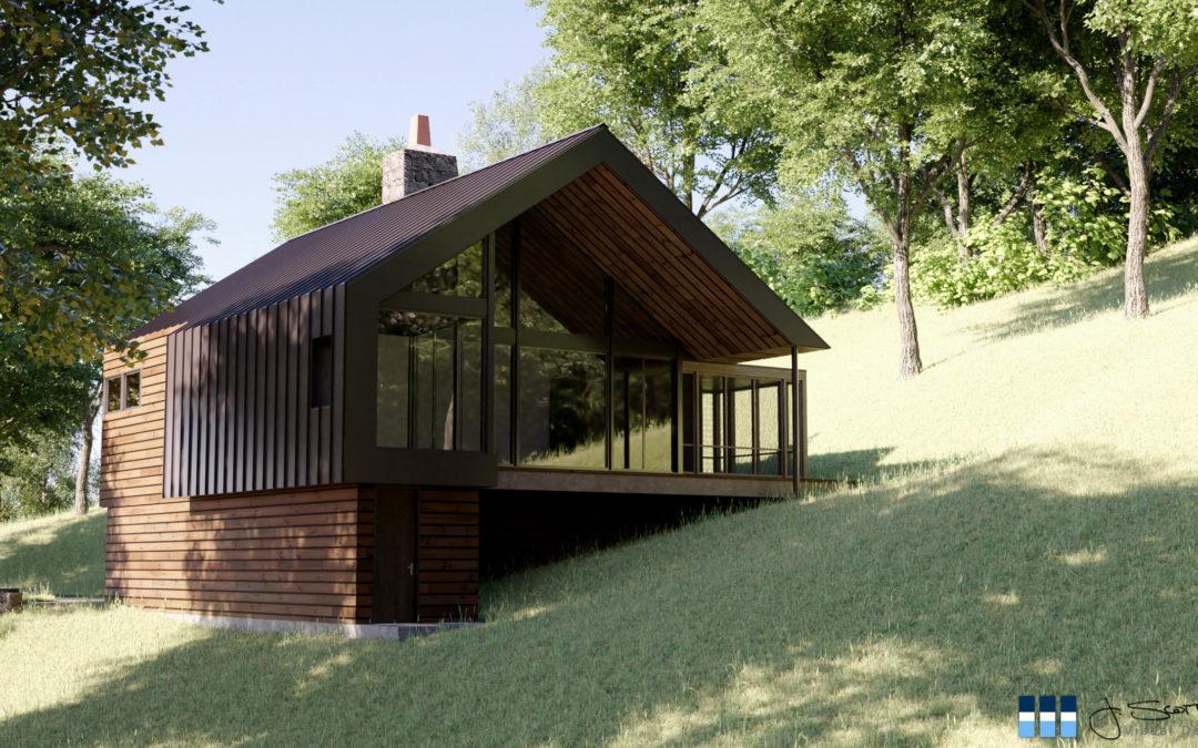 Architectural Renderings: Glen Arbor Residence