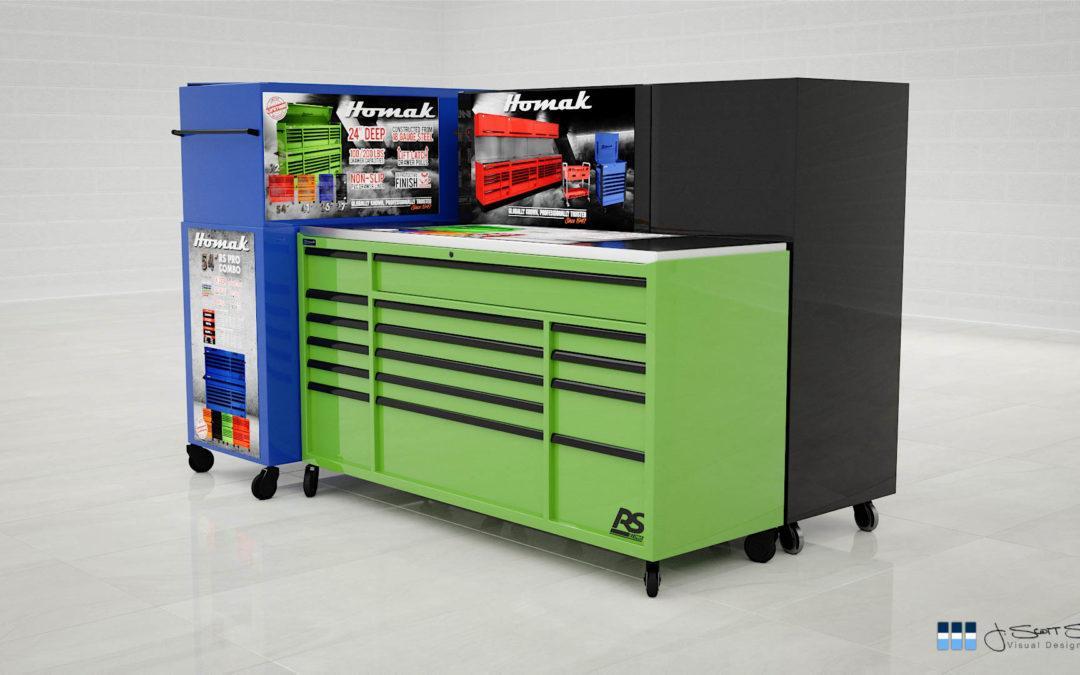 Product Renderings: Homak Tool Storage