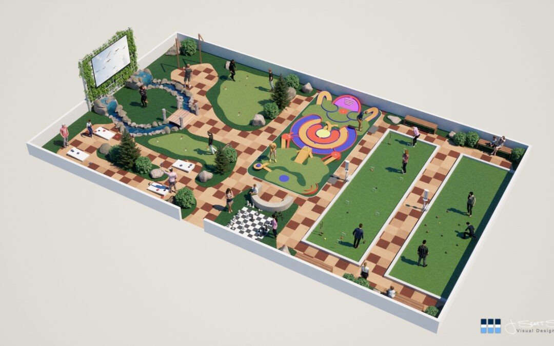 Architectural Renderings: Walk in the Park